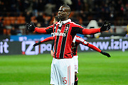 Football: Italy, Serie A, AC Mailand, .Mario Balotelli.© pixathlon..ITA and FRA out!!