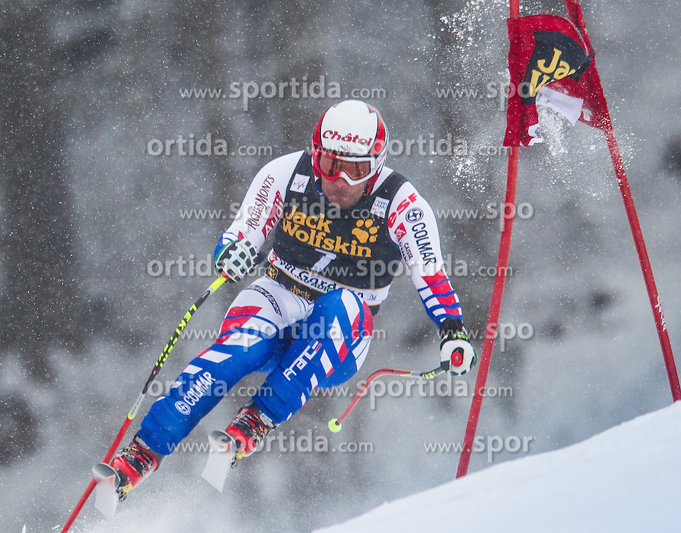 15.12.2012, Sasslong, Groeden, ITA, FIS Weltcup, Ski Alpin, Abfahrt, Herren, im Bild Yannick Bertrand (FRA) // Yannick Bertrand of France in action during the Downhill of the FIS Ski Alpine Worldcup at the Sasslong course, Groeden, Italy on 2012/12/15. EXPA Pictures © 2012, PhotoCredit: EXPA/ Johann Groder