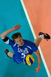 09-06-2013 VOLLEYBAL: WORLD LEAGUE NEDERLANDS - JAPAN: APELDOORN<br /> Nederland wint ook de tweede wedstrijd en verslaat Japan met 3-0 / Jelte Maan<br /> ©2013-FotoHoogendoorn.nl