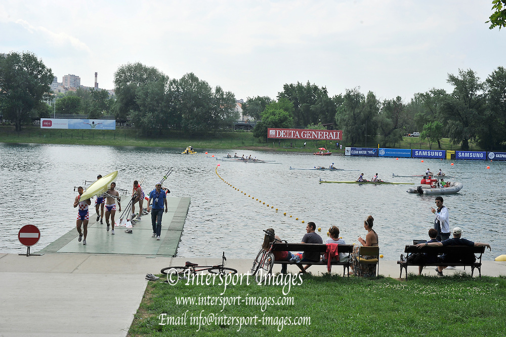 Belgrade, SERBIA. 2012 FISA World Cup I   GV General View, after a morning heat/repechage.  Saturday  05/05/2012   [Mandatory Credit. Peter Spurrier/Intersport Images]