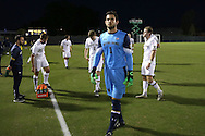 21 October 2016: Notre Dame's Chris Hubbard. The Duke University Blue Devils hosted the University of Notre Dame Fighting Irish at Koskinen Stadium in Durham, North Carolina in a 2016 NCAA Division I Men's Soccer match. Duke won the game 2-1 in two overtimes.