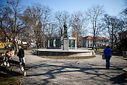 Jan Hus memorial located in the city of Tabor in South Bohemia. A group of Jan Hus followers came to a hill where a Premyslid settlement used to be and they founded a town there in the year 1420 and gave it a Biblical name - Tabor. Being led by captains Jan Zizka of Trocnov and Prokop Holy they started out on their victorious battles from there. The foundation of Tabor is connected with the name of Jan Hus, a great reformer of the Catholic Church. In the year 1437 after the Hussites were defeated, the town of Tabor was granted a royal charter by the Holy Roman Emperor and Czech King Sigismund of Luxembourg.