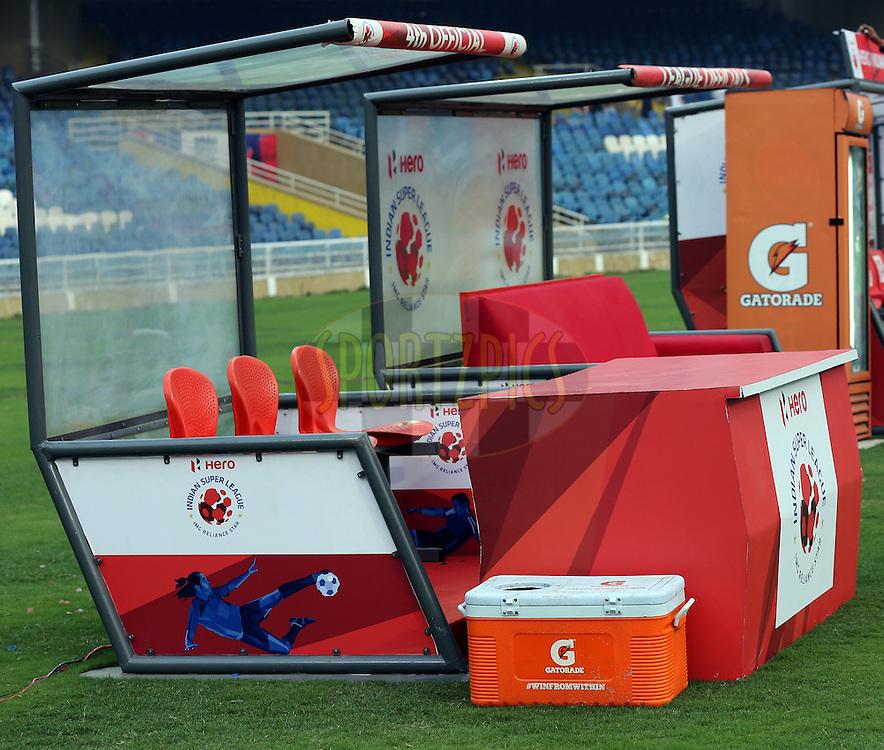 Gatorade Ice Box during match 47 of the Indian Super League (ISL) season 2  between Mumbai City FC and Kerala Blasters FC held at the D.Y. Patil Stadium, Navi Mumbai, India on the 26th November 2015.<br /> <br /> Photo by Sandeep Shetty / ISL/ SPORTZPICS