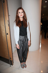 BONNIE WRIGHT at a party to celebrate Lancome's 10th anniversary of sponsorship of the BAFTA's in association with Harper's Bazaar magazine held at St.Martin's Lane Hotel, London on 19th February 2010.