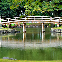History of Hama-rikyu Gardens in Tokyo, Japan<br /> The Edo Period in Japan (1603 &ndash; 1868) witnessed the rule of the Tokugawa shogunate, a form of generational military government. In 1654, Tsunashige Matsudaira, a brother of the fourth shogun Tokugawa Ietsuna, developed swampland along the bay for his beach mansion. He called it Kofu Hama-yashiki. Successive members of the dynasty expanded the grounds as a seasonal residence from Edo Castle. When the Meiji Period began in 1868, the Imperial Family acquired the property and called it Hama-rikyu. After WWII, Hama-rikyu Gardens was restored and opened to the public in 1946.