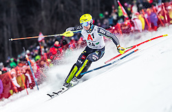 "29.01.2019, Planai, Schladming, AUT, FIS Weltcup Ski Alpin, Slalom, Herren, 1. Lauf, im Bild Mattias Hargin (SWE) // Mattias Hargin of Sweden in action during his 1st run of men's Slalom ""the Nightrace"" of FIS ski alpine world cup at the Planai in Schladming, Austria on 2019/01/29. EXPA Pictures © 2019, PhotoCredit: EXPA/ JFK"