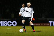 Wayne Rooney on the ball during the The FA Cup match between Northampton Town and Derby County at the PTS Academy Stadium, Northampton, England on 24 January 2020.