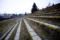 Bezigrad's stadium for football in Ljubljana made by Joze Plecnik in year 1935, is a ruin one year after Joc Pececnik started to rebuild it, on December 30, 2009.(Photo by Vid Ponikvar / Sportida)