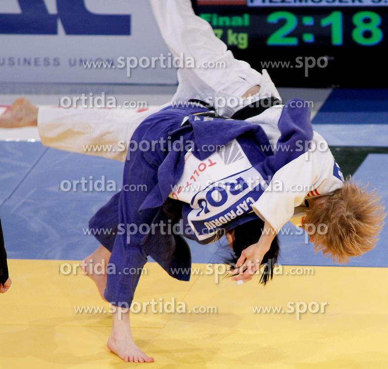22.04.2010, Ferry Dusika Stadion, Wien, AUT, Judo European Championships, Sabrina Filzmoser (AUT) vs Corina Oana Caprioriu (ROU), during Judo European Championships 2010, EXPA Pictures 2010, Photographer EXPA / S. Trimmel / SPORTIDA PHOTO AGENCY