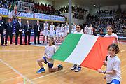 DESCRIZIONE : Schio Nazionale Italia Femminile Qualificazione Europeo Femminile 2017 Italia Montenegro Italy Montenegro<br /> GIOCATORE : italia<br /> CATEGORIA : inno nazionale<br /> SQUADRA : Italia Italy<br /> EVENTO : Qualificazione Europeo Femminile 2017<br /> GARA : Italia Montenegro Italy Montenegro<br /> DATA : 20/02/2016 <br /> SPORT : Pallacanestro<br /> AUTORE : Agenzia Ciamillo/M.Gregolin<br /> Galleria : FIP Nazionali 2016<br /> Fotonotizia : Schio Nazionale Italia Femminile Qualificazione Europeo Femminile 2017 Italia Montenegro Italy Montenegro