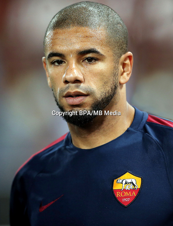 Italian League Serie A -2016-2017 / <br /> ( AS Roma ) - <br /> Bruno da Silva Peres &quot; Bruno Peres &quot;