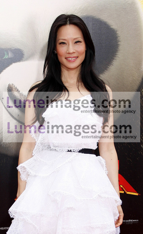 Lucy Liu at the Los Angeles premiere of 'Kung Fu Panda 2' held at the Grauman's Chinese Theater in Hollywood, USA on May 22, 2011.
