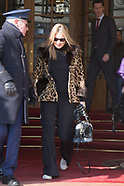 PFW - Kate Moss leaves her hotel - 28 Feb 2018