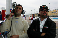 Dario Franchitti and Michael Andretti at the Phoenix International Raceway, XM Satellite Radio Indy 200, March 19, 2005