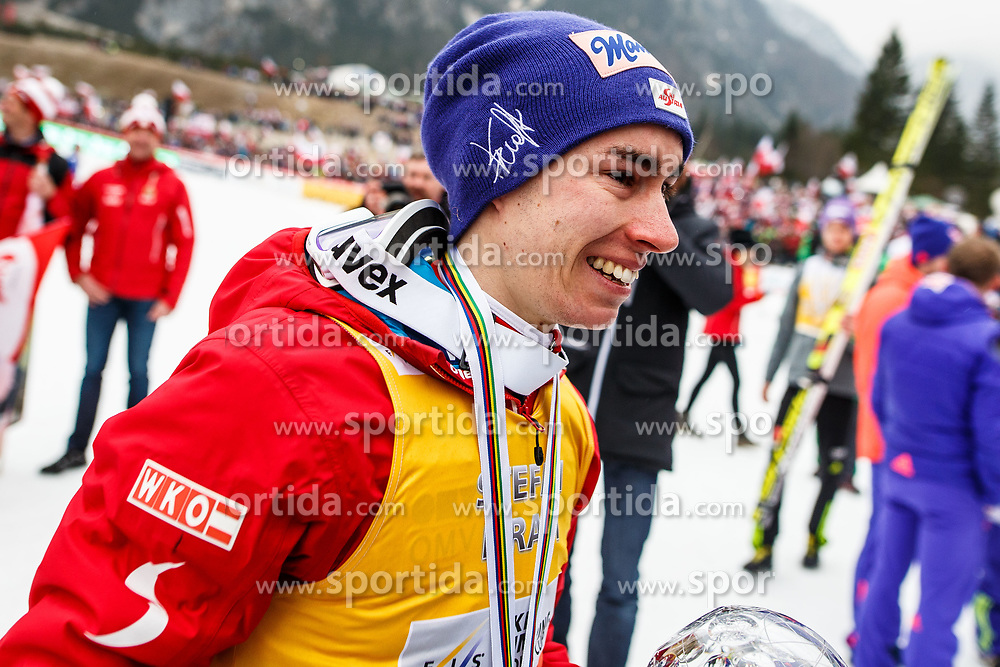 Stefan Kraft (AUT) during trophy ceremony after Ski Flying Hill Men's Individual Competition at Day 4 of FIS Ski Jumping World Cup Final 2017, on March 26, 2017 in Planica, Slovenia. Photo by Grega Valancic / Sportida