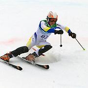 Winter Olympics, Vancouver, 2010.Rostyslav Feshchuk, Ukraine,  in action during the Alpine Skiing, Men's Slalom at Whistler Creekside, Whistler, during the Vancouver Winter Olympics. 27th February 2010. Photo Tim Clayton