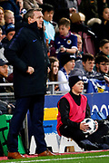 England Head Coach Aidy Boothroyd during the U21 UEFA EUROPEAN CHAMPIONSHIPS match Scotland vs England at Tynecastle Stadium, Edinburgh, Scotland, Tuesday 16 October 2018.