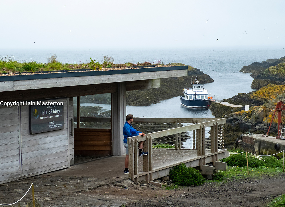 Visitor Centre on Isle of May National Nature Reserve, Firth of Forth, Scotland, UK
