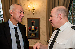 Pictured: George Thomson, Volunteer Scotland's Chief Executive chats with Assistant Chief Constable John Hawkins,<br /> Today the Police Scotland's Youth Volunteer scheme was presented with 'Investing in Volunteers' award by Volunteer Scotland. Assistant Chief Constable John Hawkins, Justice Secretary Michael Matheson, and George Thomson (Chief Executive) from Volunteer Scotland were on hand for the ceremony.<br /> <br /> <br /> Ger Harley | EEm 13 December 2017