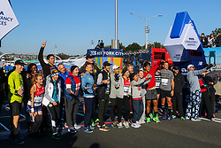 TCS New York City Marathon 2019<br /> celebrity runners at the start of marathon