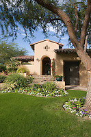 Lawned garden of Palm Springs Hacienda