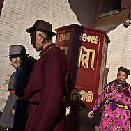 Mongolia. Ulaanbaatar. Gandan : the Buddhist monastery  Ulan Baatar -     /  Gandan le grand Monastere bouddhiste   Oulan Bator - Mongolie