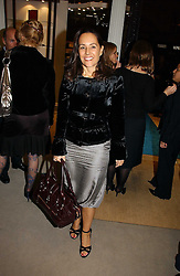 SARAH MANLEY at a party to celebrate the 10th anniversary of the Smythson Fashion Diary and to the launch of the 2007 Limited Edition held at Smythson, New Bond Street, London on 25th October 2006.<br />