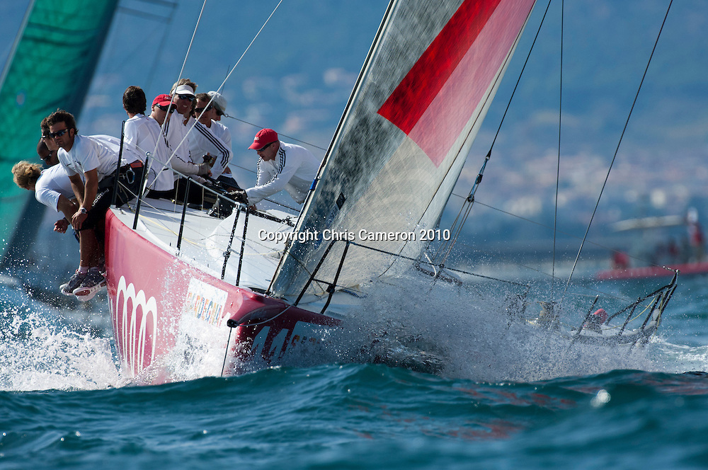 All4One (GER). Race two on Day one of the Trophy of Sardinia, Audi MedCup 2010. 21/9/2010