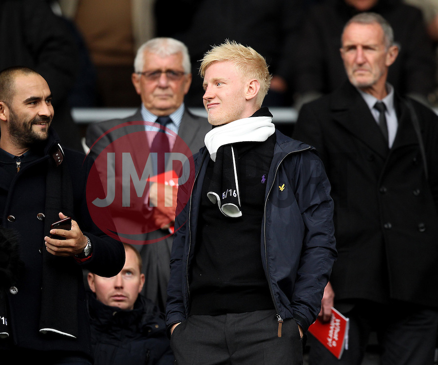 Will Hughes of Derby County takes a sit at The iPro Stadium - Mandatory byline: Robbie Stephenson/JMP - 07966 386802 - 18/10/2015 - FOOTBALL - iPro Stadium - Derby, England - Derby County v Wolverhampton Wanderers - Sky Bet Championship