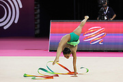 Laura Sales, Portugal, during the 33rd European Rhythmic Gymnastics Championships at Papp Laszlo Budapest Sports Arena, Budapest, Hungary on 20 May 2017. Photo by Myriam Cawston.