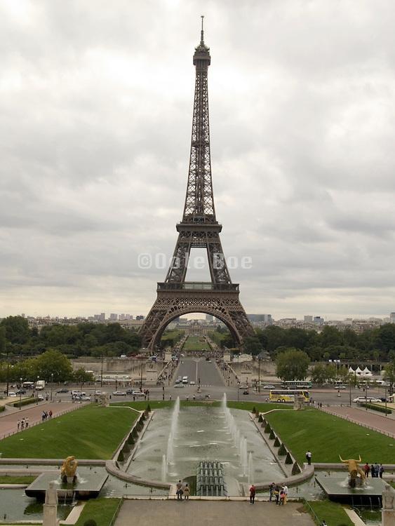 Paris Eiffel tower seen from Place Joffre