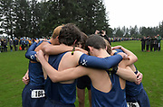 Dec 2, 2017; Portland, OR, USA; Members of the Flower Mound boys' team huddle during the 2017 Nike Cross Nationals at Glendoveer Golf Course.