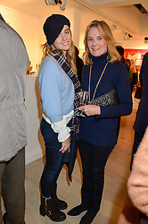 Left to right, CRESSIDA BONAS and her mother LADY MARY-GAYE CURZON at a private view entitled Stop Making Sense featuring work by Georgiana Anstruther and Carol Corell held at Lacey Contemporary, 8 Clarendon Cross, London on 9th March 2016.