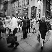 People waiting on street corners in Sydney, Australia