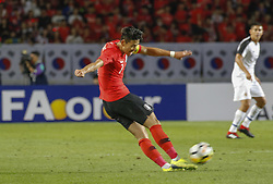 September 7, 2018 - Goyang, Gyeonggi, South Korea - September 7, 2018-Goyang, South Korea-Son Heungmin of South Korea action on the field during an Football A Match South Korea vs Costa Rica at Goyang Sports Complex in South Korea. Match Won South KOrea, Score by 2-0. (Credit Image: © Ryu Seung-Il/ZUMA Wire)