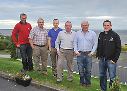 Members of Tourmakeady gathered in M&aacute;ire Luke's Tourmakeady to talk about the club's history recently pictured from left Tommie Heneghan, Frank Lally, Brian Naughton, Michael John Casey, Brian Gibbons and Brendan Prendergast.<br /> Pic Conor McKeown