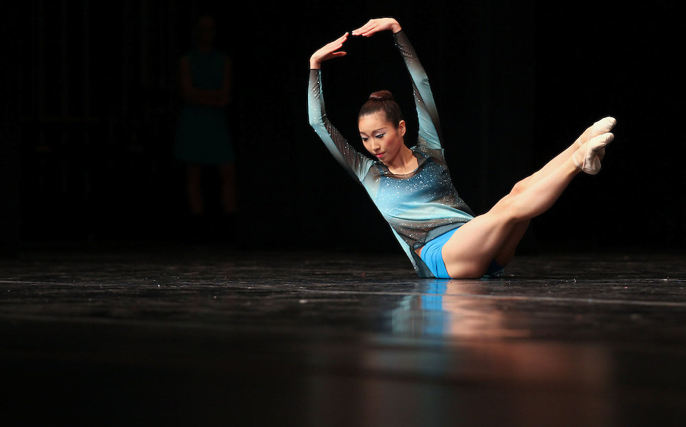 Younji-Grace Choi , 16, performs in the Senior Contemporary Group during the The Youth American Grand Prix Semi-Regionals at Zionsville High School Saturday March 9, 2013..Photo by Chris Bergin..