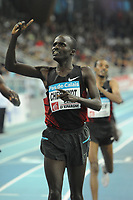 ATHLETICS - MEETING PAS DE CALAIS 2012 - LIEVIN (FRA) - 14/02/2012 - PHOTO : STEPHANE KEMPINAIRE / KMSP / DPPI - <br /> 3000 M - MEN - WINNER - SOI EDWIN CHERUIYOT (KEN)
