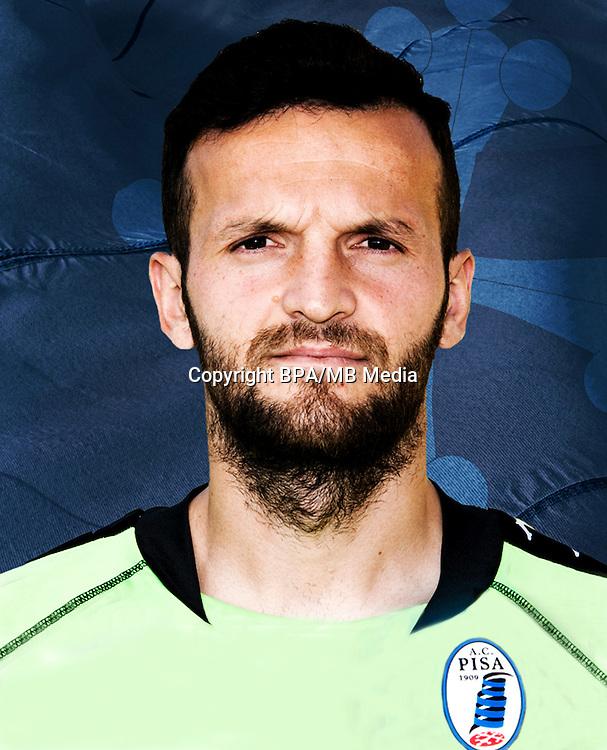 Italian League Serie B -2016-2017 / <br /> ( A.C. Pisa 1909 ) - <br /> Samir Ujkani