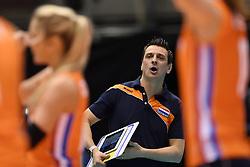 14-05-2016 JAP: OKT Kazachstan - Nederland, Tokio<br /> De Nederlandse volleybalsters hebben op het OKT in Tokio met een 3-1 (25-12, 21-25, 25-14, 25-8) zege op Kazachstan een eerste stap richting een olympisch ticket gezet. / Coach Giovanni Guidetti