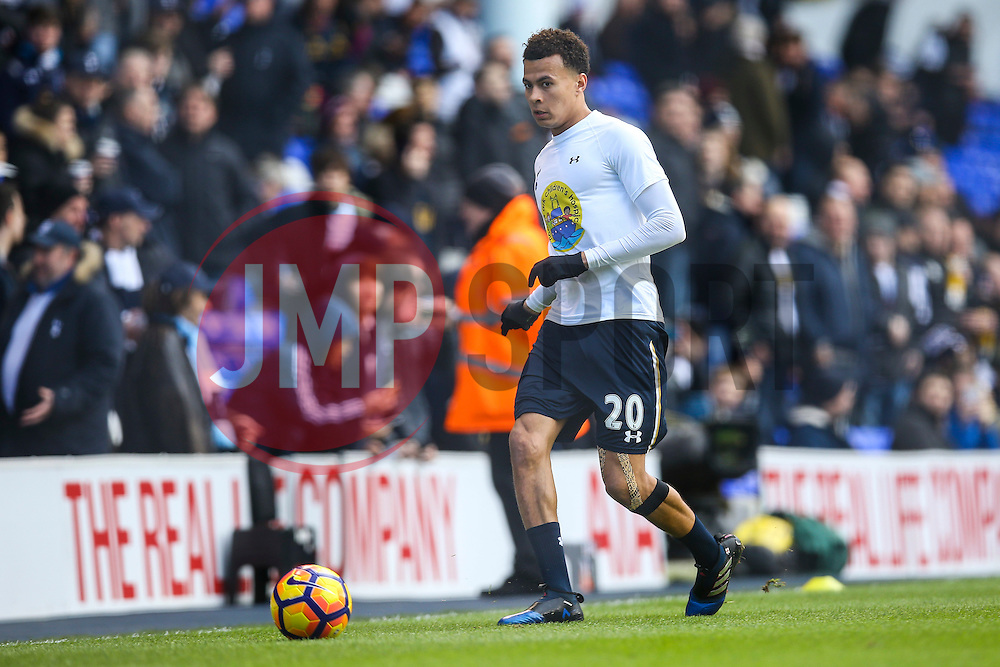 Dele Alli of Tottenham Hotspur warms up - Mandatory by-line: Jason Brown/JMP - 05/03/2017 - FOOTBALL - White Hart Lane - London, England - Tottenham Hotspur v Everton - Premier League