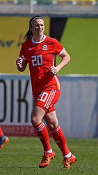LARNACA, CYPRUS - Wednesday, March 7, 2018: Wales' Helen Ward during the Cyprus Women's Cup match between Austria and Wales on day nine of the Cyprus Cup tournament at the AEK Arena - Georgios Karapatakis. (Pic by David Rawcliffe/Propaganda)