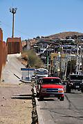 Surveillance cameras in Nogales, Arizona, USA, monitor the border with Nogales, Sonora, Mexico.