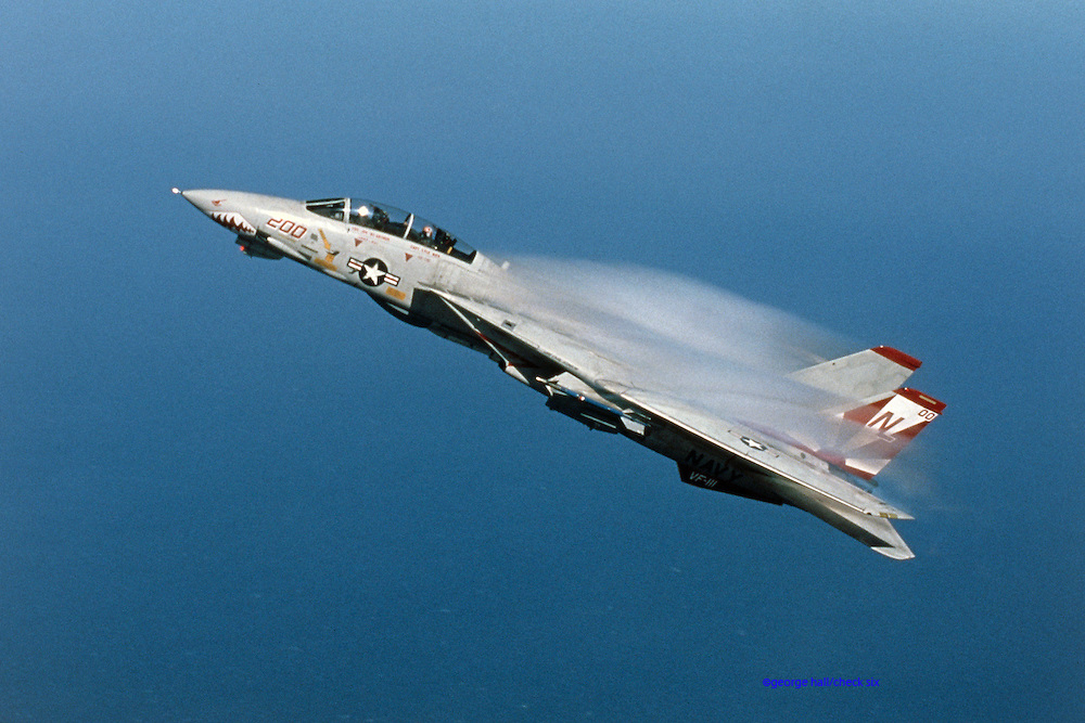 F-14A, VF-211, positive G vapor