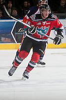 KELOWNA, CANADA - NOVEMBER 1:  Cody Fowlie #18 of the Kelowna Rockets skates on the ice against the Kamloops Blazers at the Kelowna Rockets on November 1, 2012 at Prospera Place in Kelowna, British Columbia, Canada (Photo by Marissa Baecker/Shoot the Breeze) *** Local Caption ***