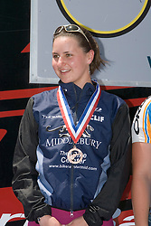 Megan Guarnier / Middlebury College<br /> <br /> The 2007 USA Cycling Collegiate Road Championship criterium was held in downtown Lawrence, Kansas on May 13, 2007.