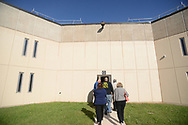 Media members tour the newest prison in Pennsylvania Friday, September 01, 2017 at State Correction Institution Phoenix in Skippack, Pennsylvania. The facility is inching closer to opening, two years late, to replace Graterford Prison at a cost of $400 million. (Photo by William Thomas Cain/CAIN IMAGES)