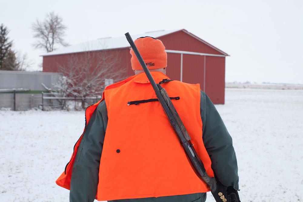 Donovan Nokes hunts for deer on Sunday, December 4, 2011 in Webster City, IA.