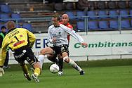 07.07.2005, Tehtaankentt?, Valkeakoski, Finland..Veikkausliiga 2005 / Finnish League 2005.FC Haka v AC Allianssi.Janne Salli (Haka) v Ville Lehtinen (Allianssi).©Juha Tamminen.....ARK:k