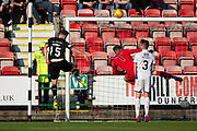 2nd Aug 2019, East End Park, Dunfermline, Fife, Scotland, Scottish Championship football, Dunfermline Athletic versus Dundee;  Kevin Nisbet of Dunfermline Athletic scores for 2-0 in the 32nd minute